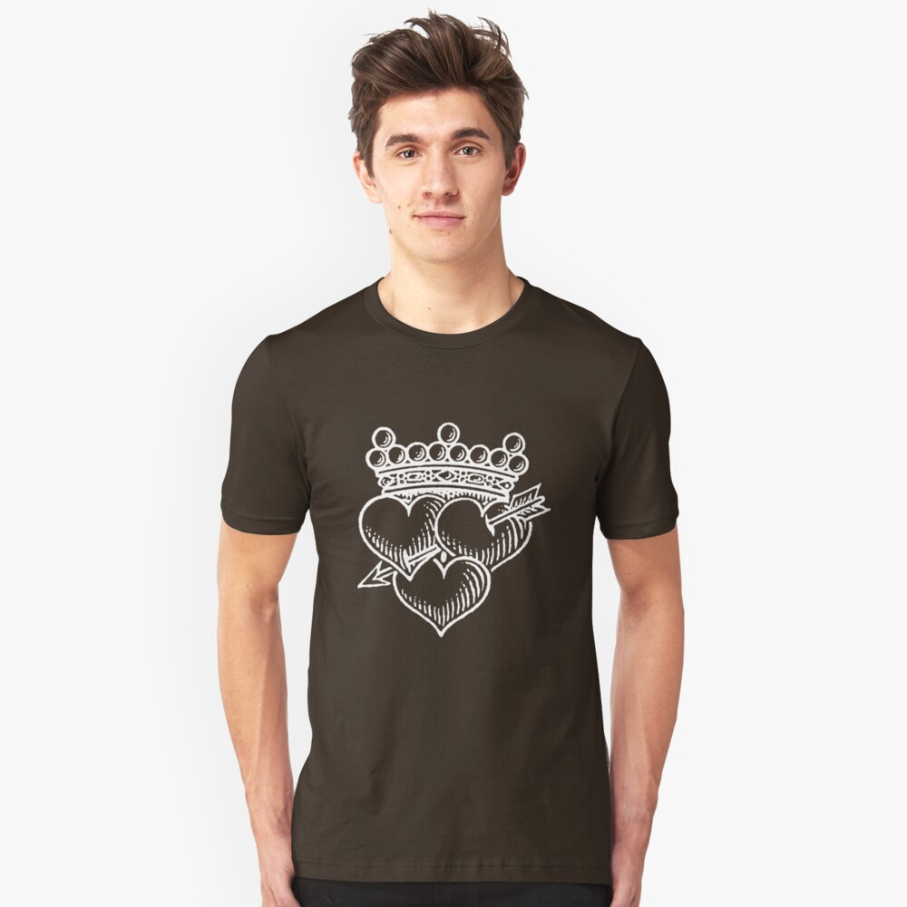 Three Hearts Crown &  Dagger Unisex T-Shirt Front
