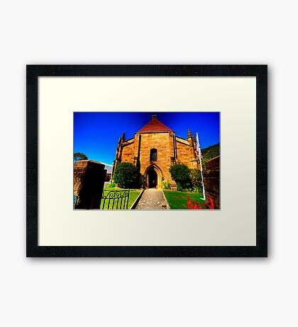 Convict Stone - The Garrison Church - The Rocks - The HDR Series Framed Print