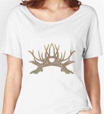 Bull elk skull European mount d Women's Relaxed Fit T-Shirt