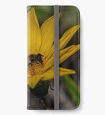 Yellow flower and bee - springtime iPhone Wallet/Case/Skin