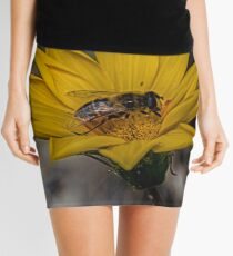 Yellow flower and bee - springtime Mini Skirt