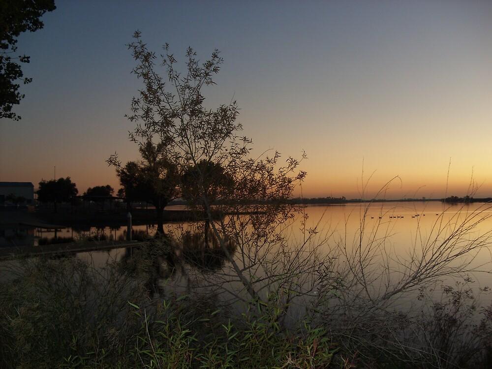 Forebay Sunset V by Jerry Stewart