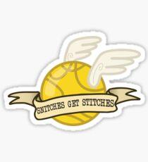 Snitches Get Stitches Sticker