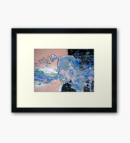 Abstract Self Portrait Framed Print