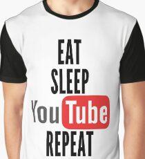 Camiseta gráfica Comer, dormir, youtube, repetir