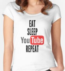 Eat, Sleep, Youtube, Repeat Women's Fitted Scoop T-Shirt