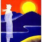 Weinlese-Finnland-Reise-Plakat von AllVintageArt