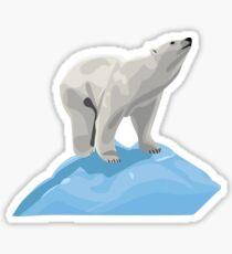 Polar Bear on an Iceberg 3 Sticker