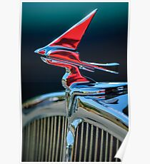 1933 Franklin Olympic Hood Ornament -030c Poster