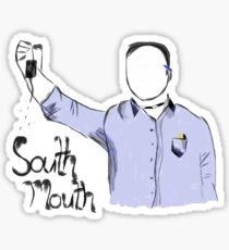 Kappa Zeta Nu - Stan Halen - Workaholics - South Mouth T-Shirt Sticker