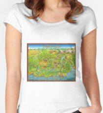 Stardew Valley Map Fitted Scoop T-Shirt
