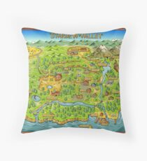Stardew Valley Map Throw Pillow