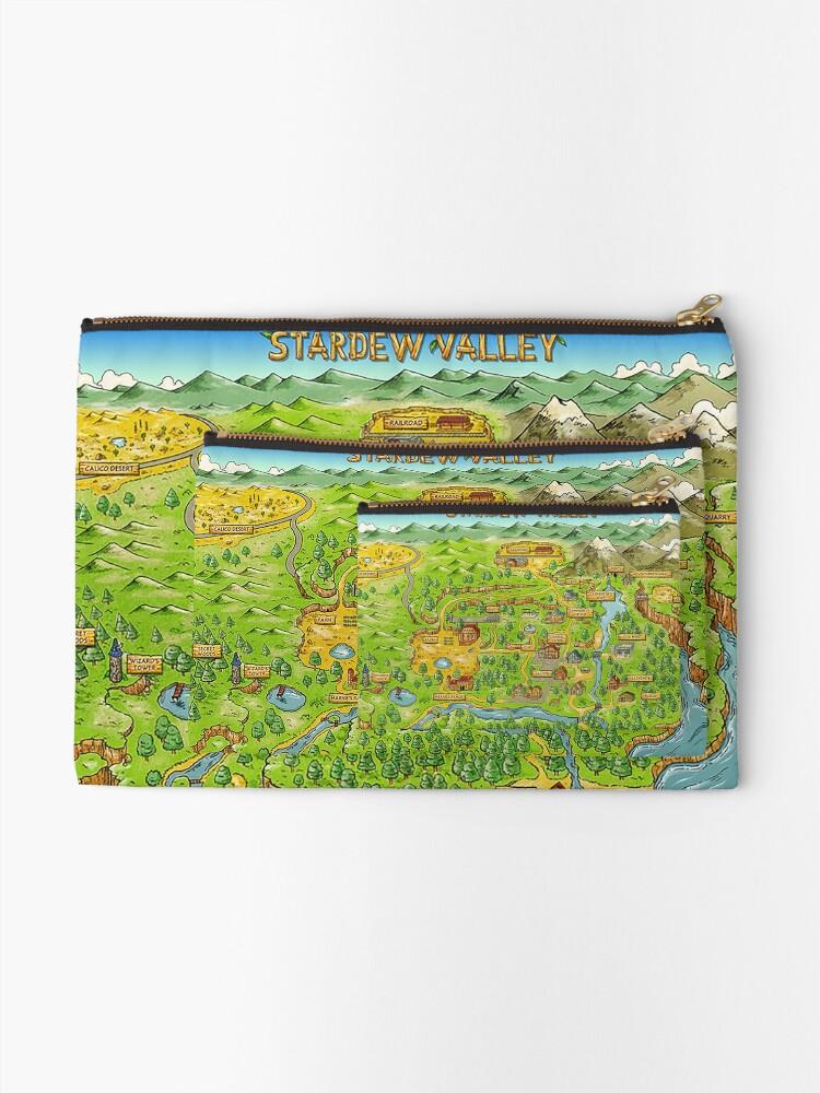 Alternative Ansicht von Stardew Valley Karte Täschchen