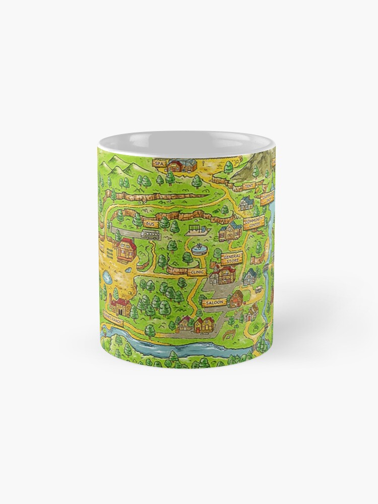 Alternative Ansicht von Stardew Valley Karte Tasse (Standard)