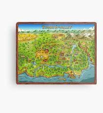 Stardew Valley Map Metal Print