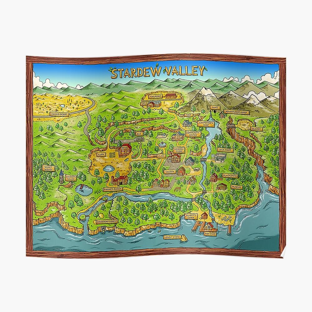 Stardew Valley Karte Poster