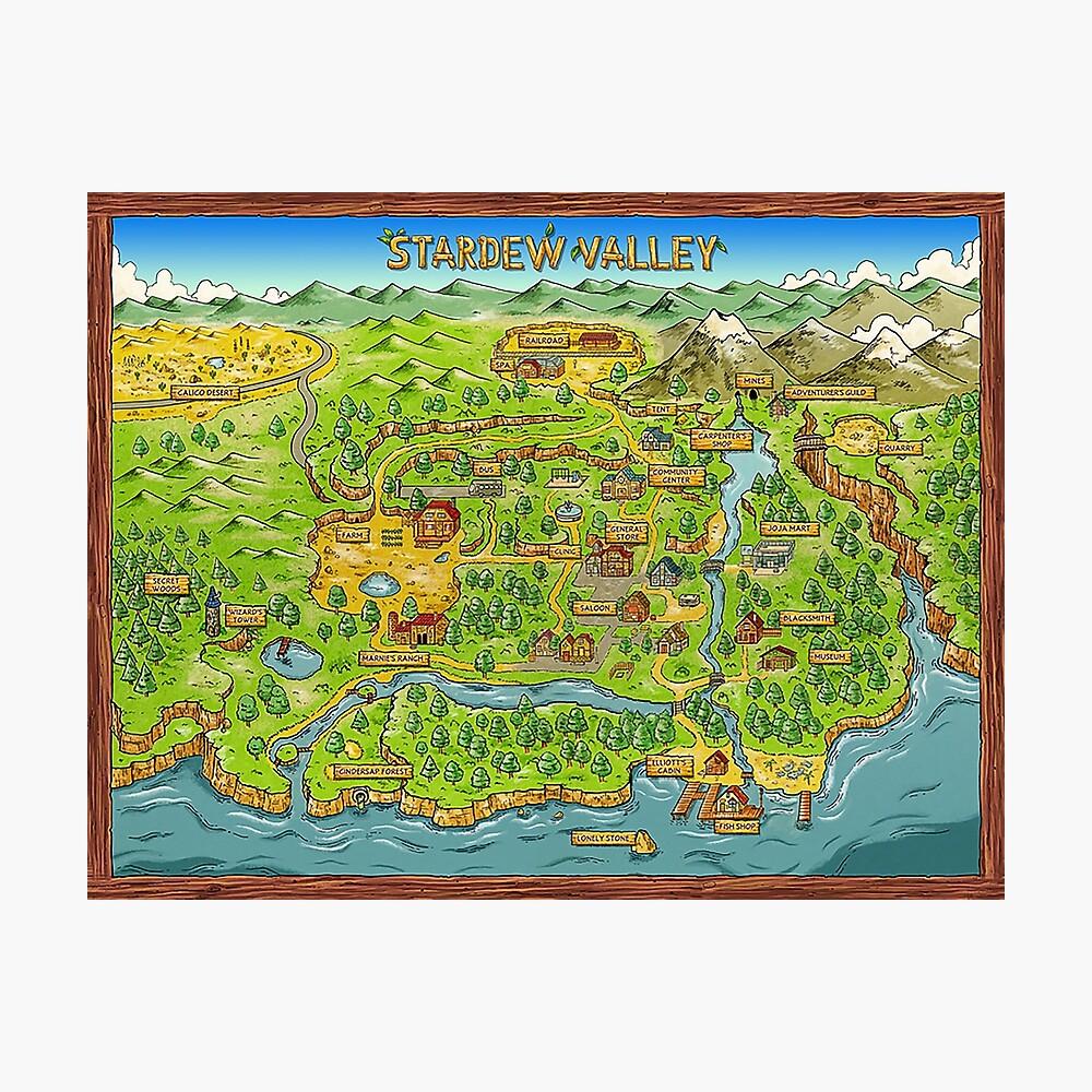 Stardew Valley Map Photographic Print