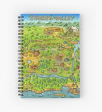 Stardew Valley Map Spiral Notebook