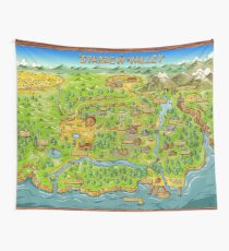 Stardew Valley Map Wall Tapestry