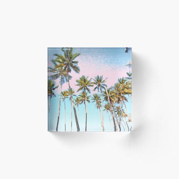 Coconut Palms #redbubble #decor #buyart Acrylic Block