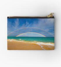 Double Rainbow Baldwin Beach Studio Pouch