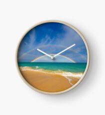 Double Rainbow Baldwin Beach Clock