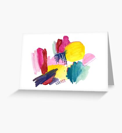 Abstract 1: Razzle Dazzle Greeting Card