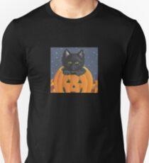 Kitten in Jack-o-Lantern Unisex T-Shirt