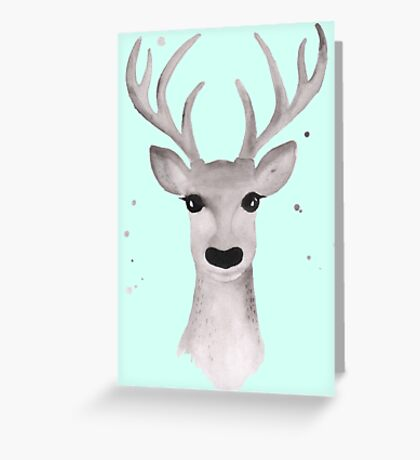 Deer Soft Grey - Mint Greeting Card