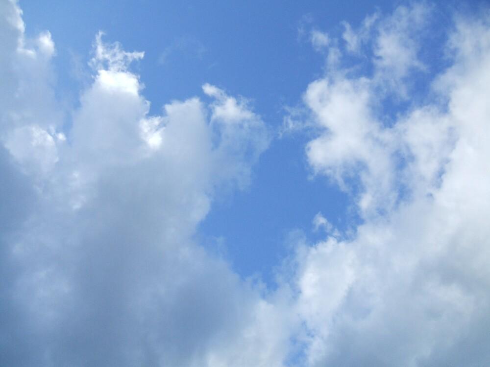 the blue sky outside my house by Clowpermou