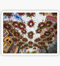 Floating Floral Wreaths Sticker