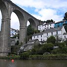 Calstock Viaduct, River Tamar by ChelseaBlue