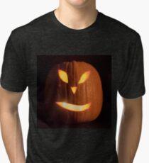 Halloween Pumpkin Jack O'Lantern Tri-blend T-Shirt