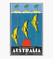 Vintage Australia Travel Poster Photographic Print