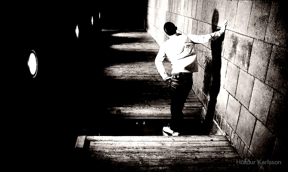 Standing Man (Black & White) by Hörður Karlsson