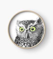 Owl portrait Clock