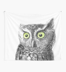 Owl portrait Wall Tapestry