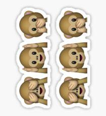 See No Evil, Hear No Evil, Speak No Evil Emoji Sticker