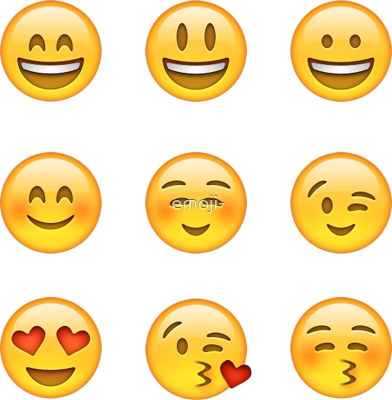 """Smilies Emoji (Pack A)"" Stickers by emoji-"