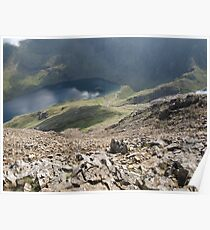 Crib Goch - Looking at the Pyg Track Poster