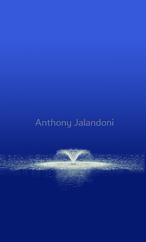 Blue Fountain of Serenity by Anthony Jalandoni
