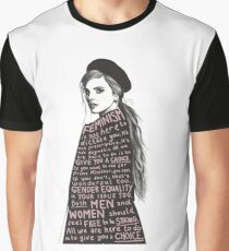 Emma Watson Feminism Design Graphic T-Shirt