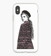 Emma Watson Feminism Design iPhone Case