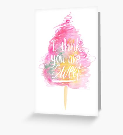 Fairy Floss - White Greeting Card