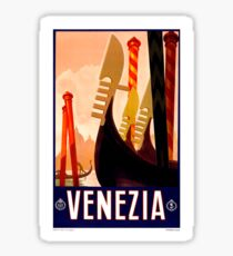 Vintage Venezia Italy Travel Poster Sticker