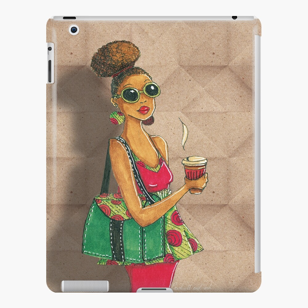 Modern African woman- Morning coffee iPad Case & Skin