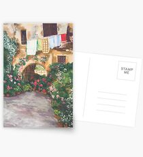 Sunlit courtyard Postcards