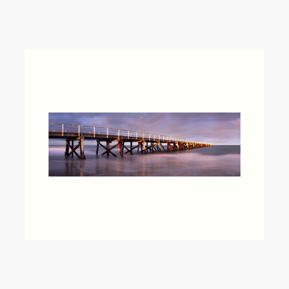 Semaphore Beach Pier, Adelaide, South Australia Art Print