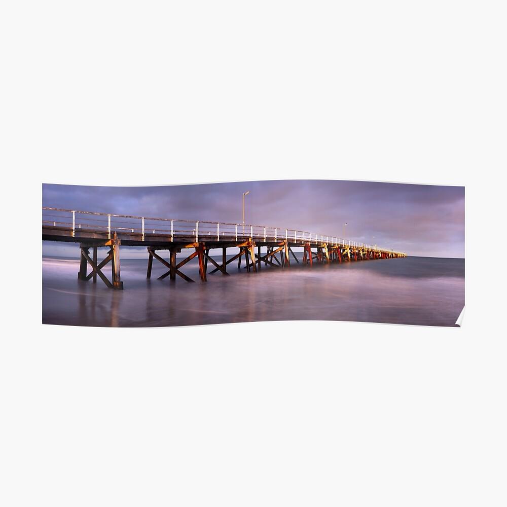 Semaphore Beach Pier, Adelaide, South Australia Poster