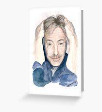 Alan Rickman - Fan Art Greeting Card